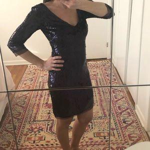 Stunning Cocktail Dress in Dark Plum Sequins
